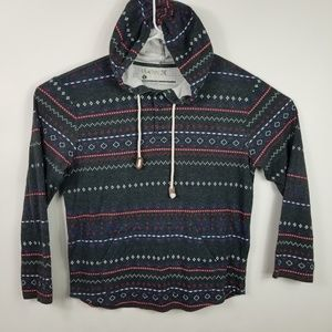 Hurley Hoodie Mens Size Large Striped Pullover